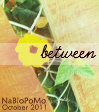 Between: NaBloPoMo badge