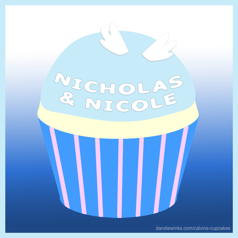Nicholas & Nicole Pacich's 6th birthday remembrance cupcake