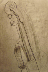 Violin line drawing