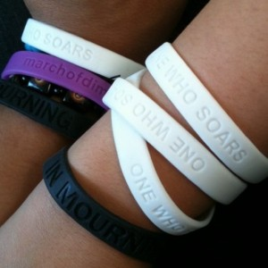 One Who Soars and In Mourning Bracelets