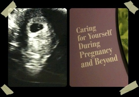 Bumble Bee's 1st ultrasound and my pregnancy packet
