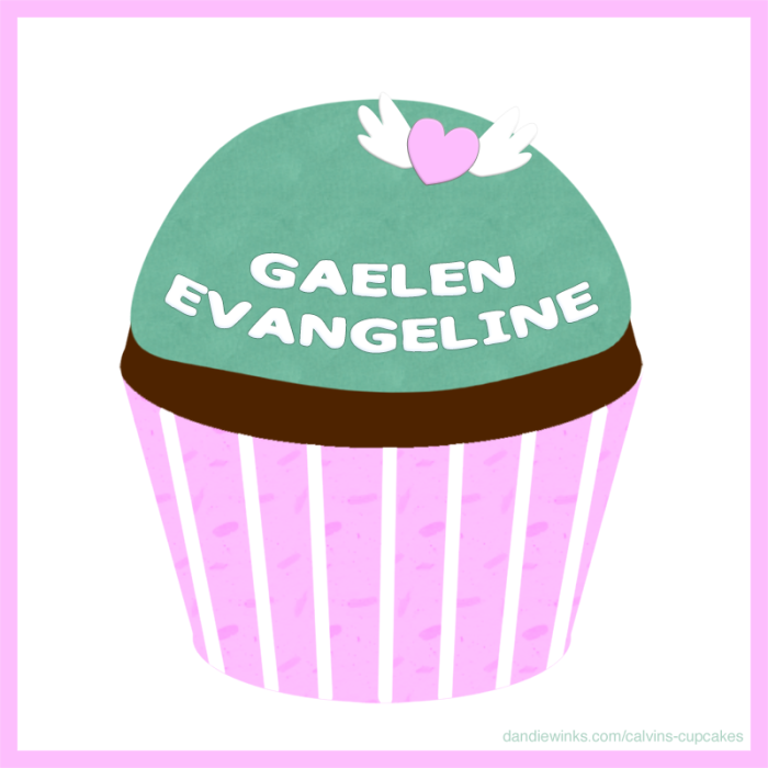 Gaelen Evangeline's 4th remembrance cupcake