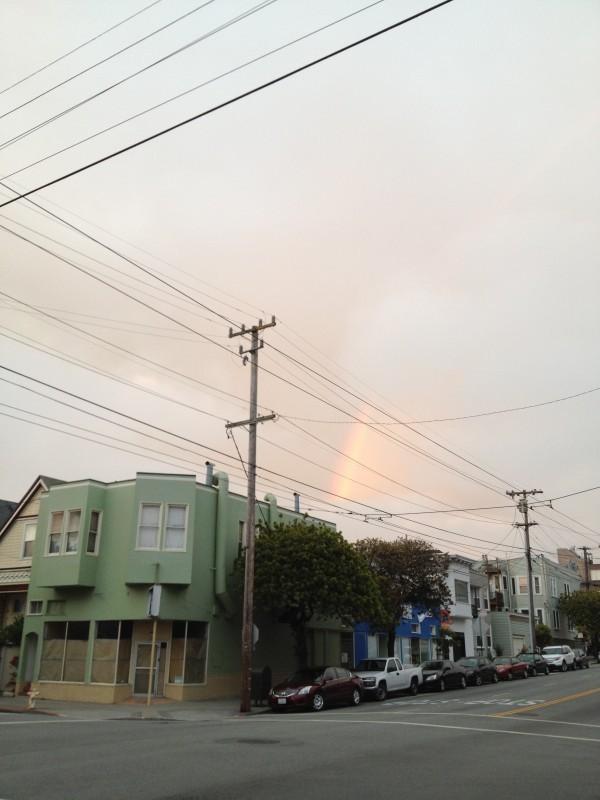 Rainbow in our neighborhood