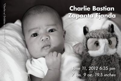 Charlie Bastian Zapanta Ejanda (06.11.2012, 7lbs 9oz, 19.5in)
