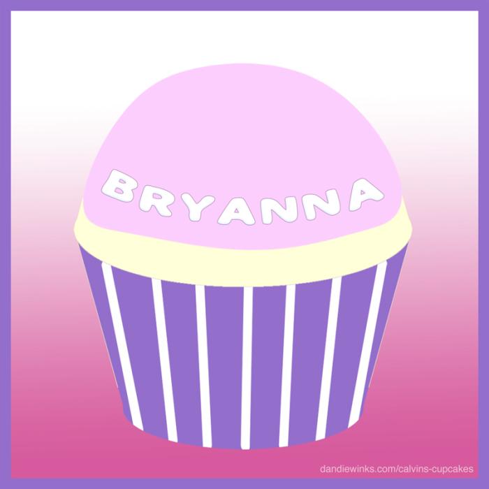 Bryanna's remembrance cupcake