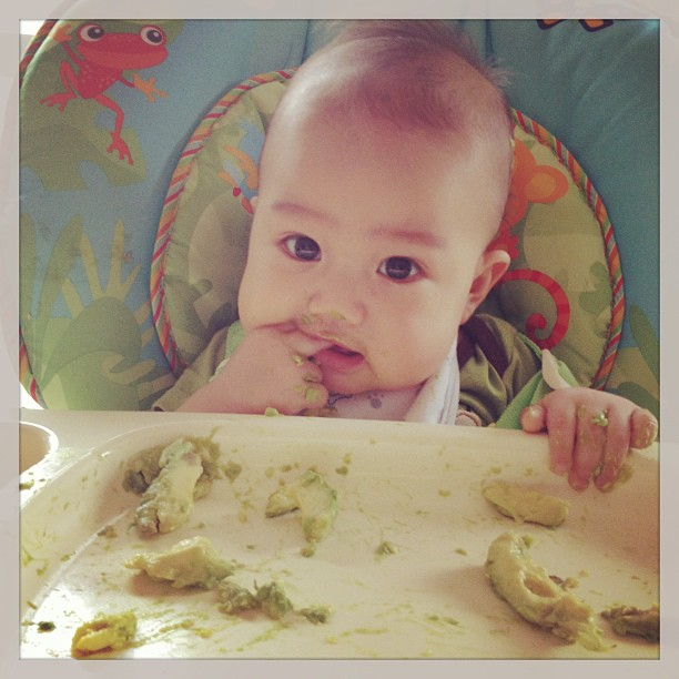 Charlie's first solids