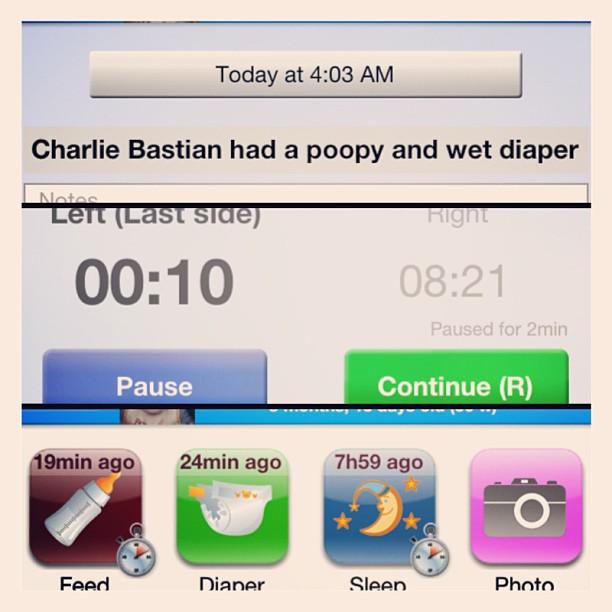 Poop. Eat. Back to sleep.  #mommylife #charliebastian #babyconnectapp