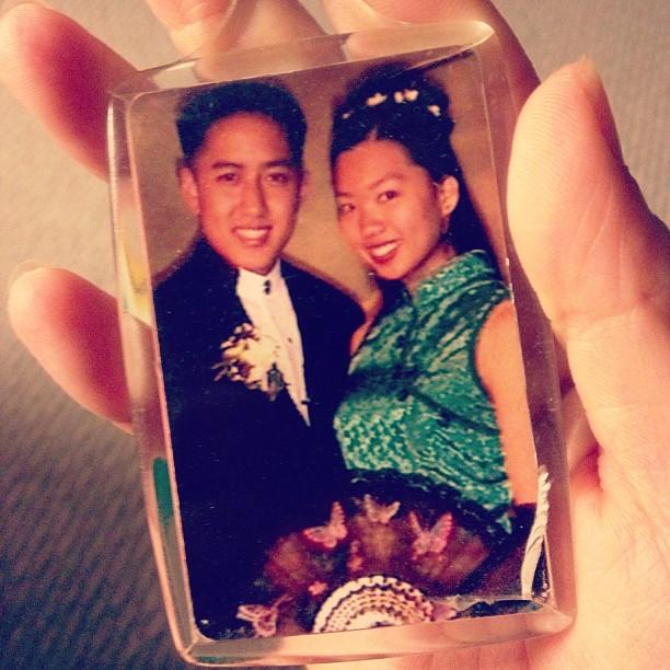 junior prom photo keychain