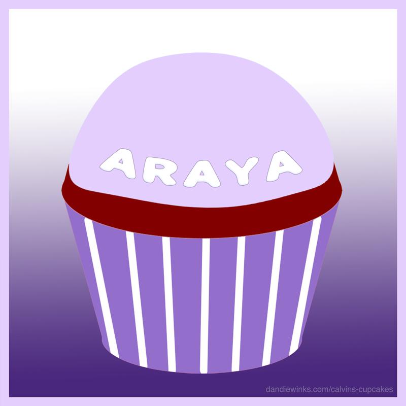 Araya Persephone Chasia's Remembrance Cupcake