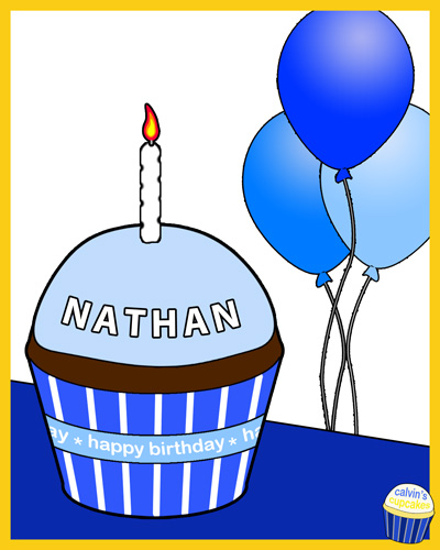 Nathan Gregory's remembrance cupcake