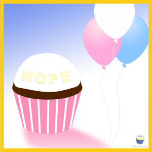 Hope Abigail's 3rd remembrance cupcake