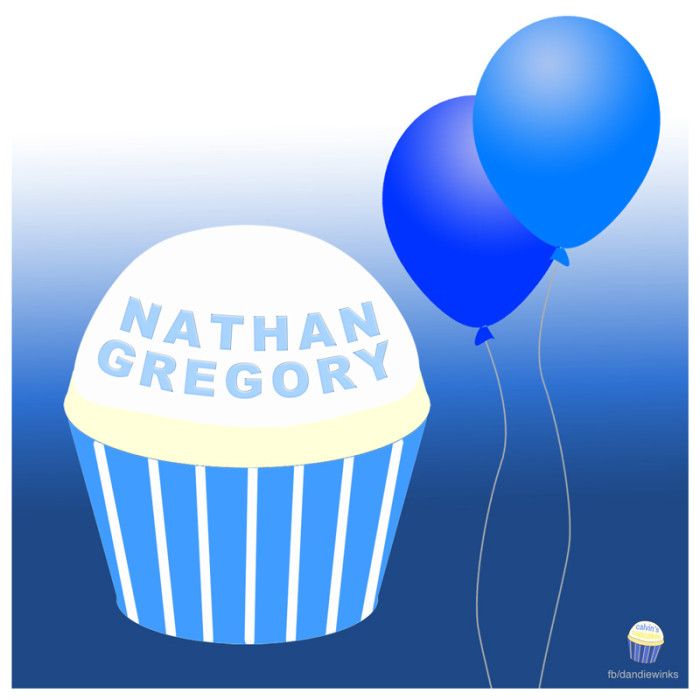 Nathan Gregory's 2nd Birthday Cupcake