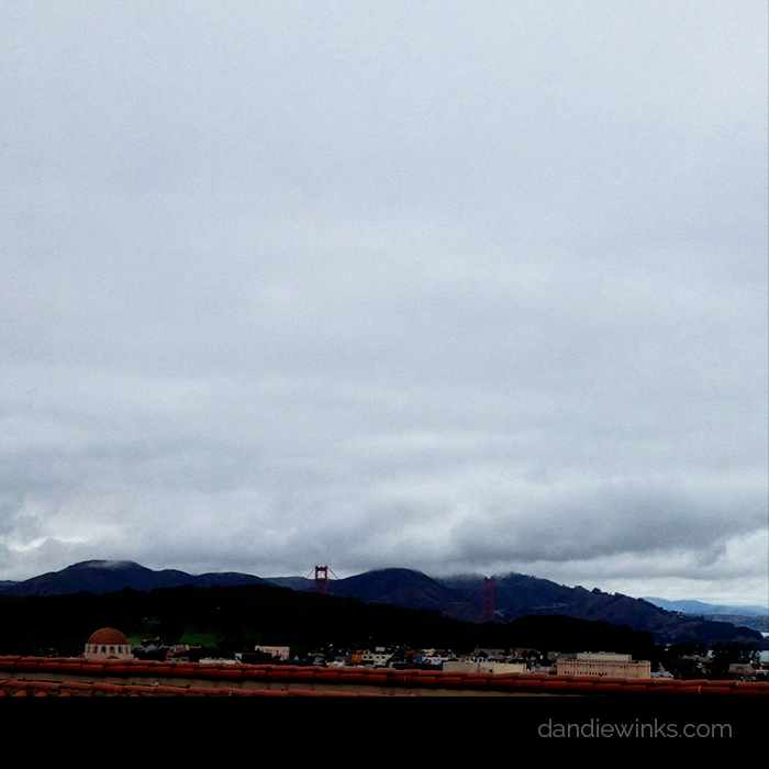 San Francisco hills and fog