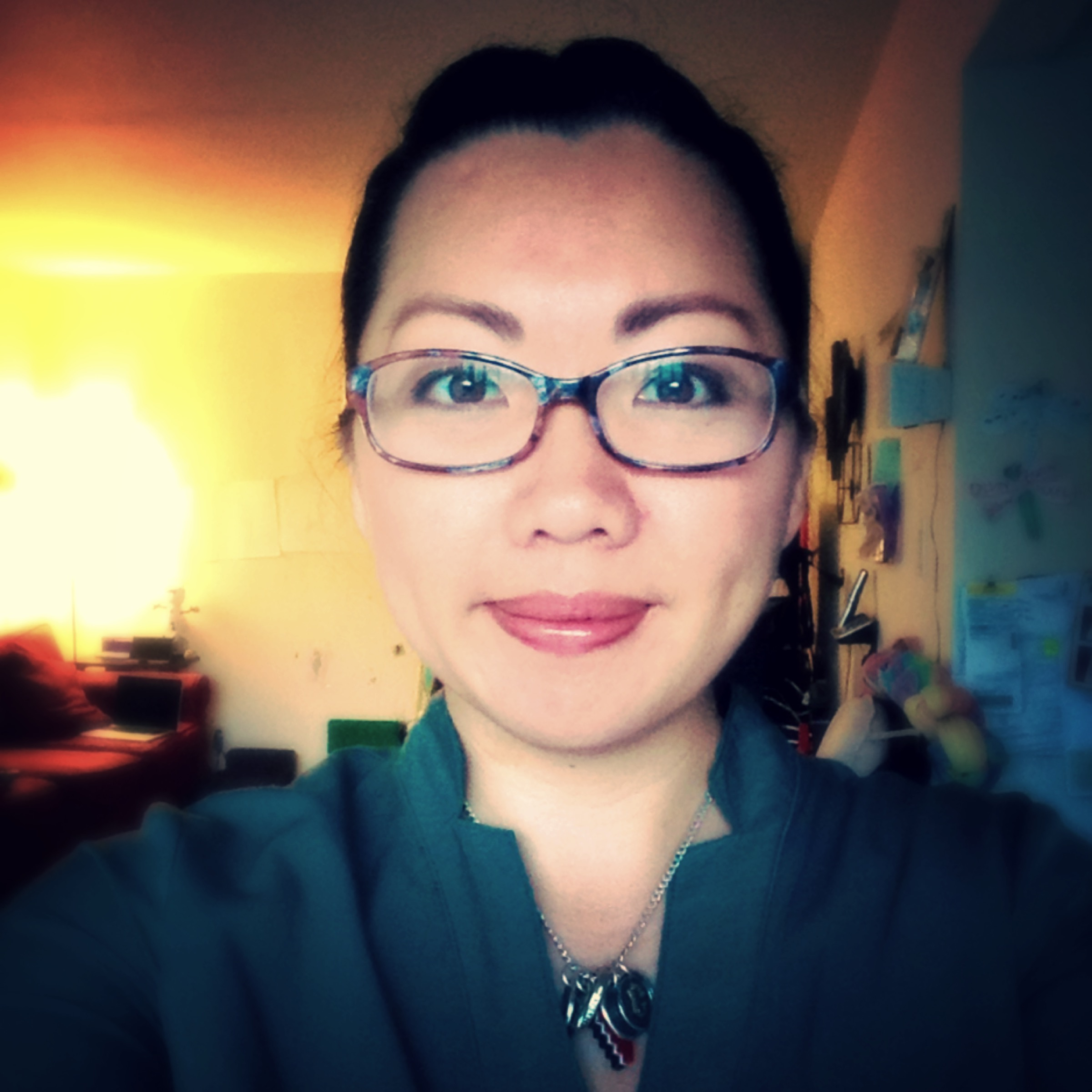 Me with makeup.