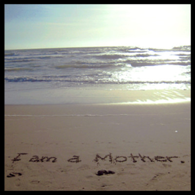 """I am a mother"" at Ocean Beach, San Francisco"