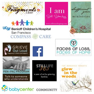 Logos of various bereavement resources