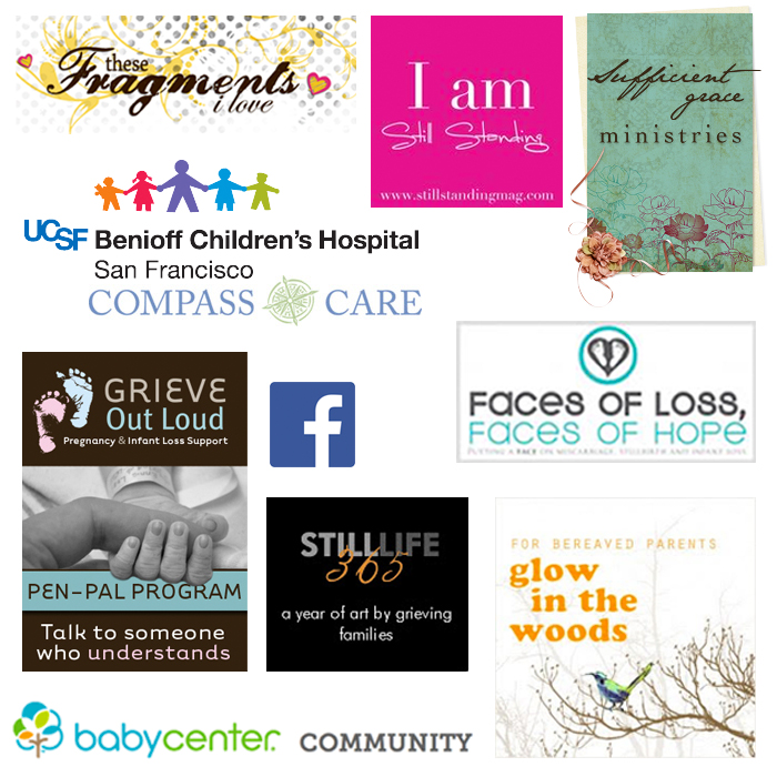 Logos of various bereavement resources