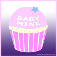 Baby Mine custom cupcake