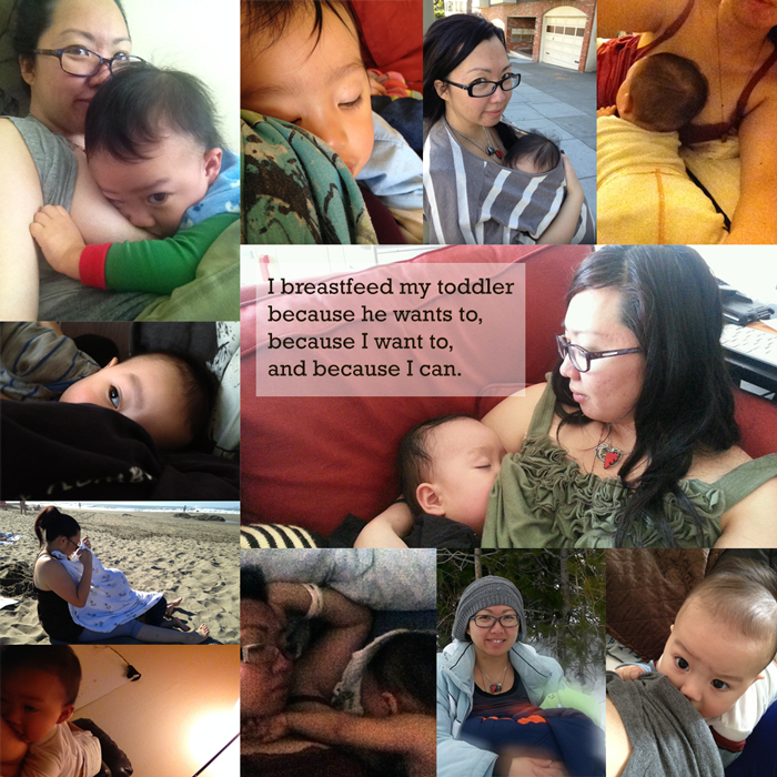 I breastfeed my toddler because he wants to, because I want to, and because I can.