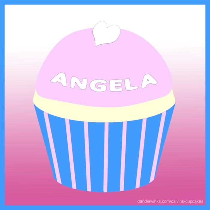 Angela's remembrance cupcake
