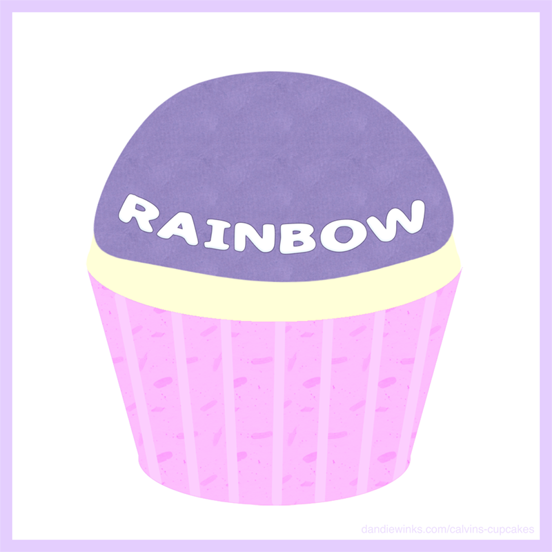 Rainbow's Remembrance Cupcake