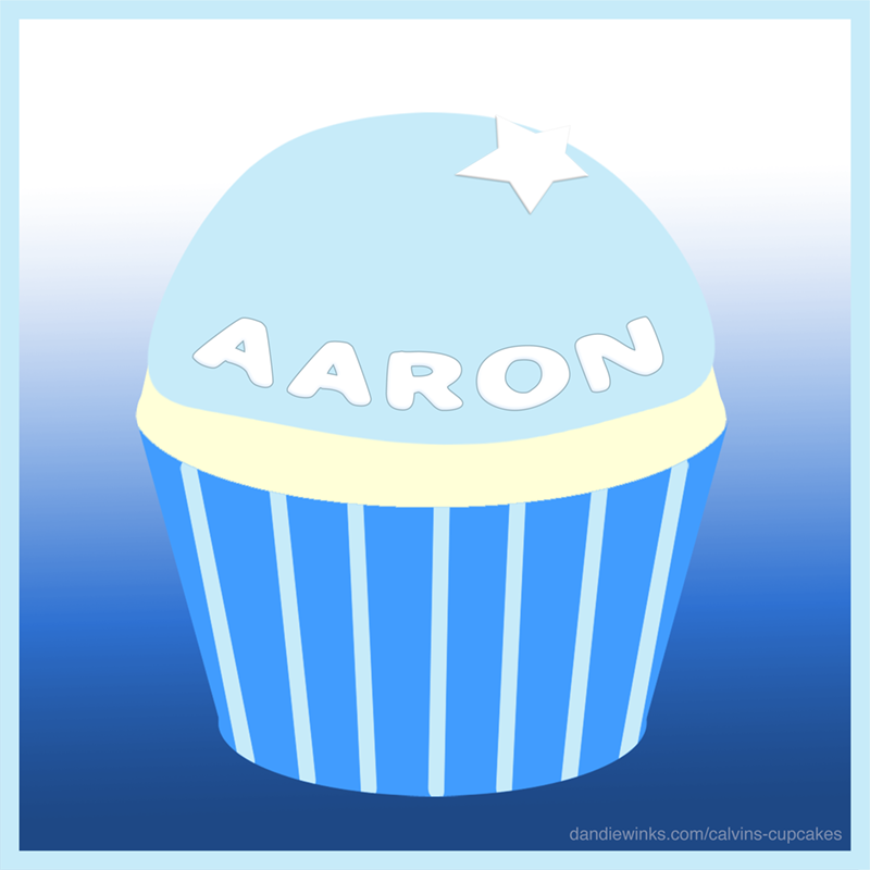 Aaron Jose's remembrance cupcake