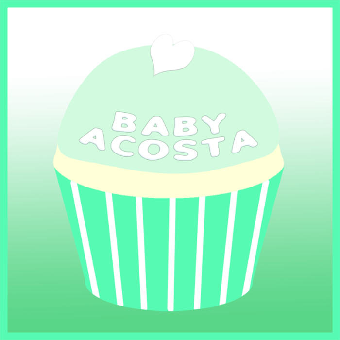 Baby Acosta's remembrance cupcake