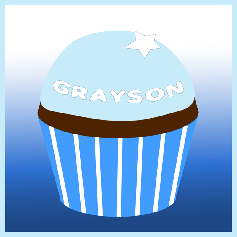 Grayson's remembrance cupcake