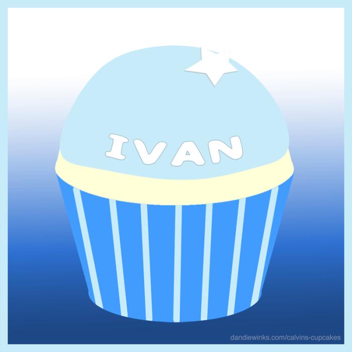 Jesus Ivan's remembrance cupcake