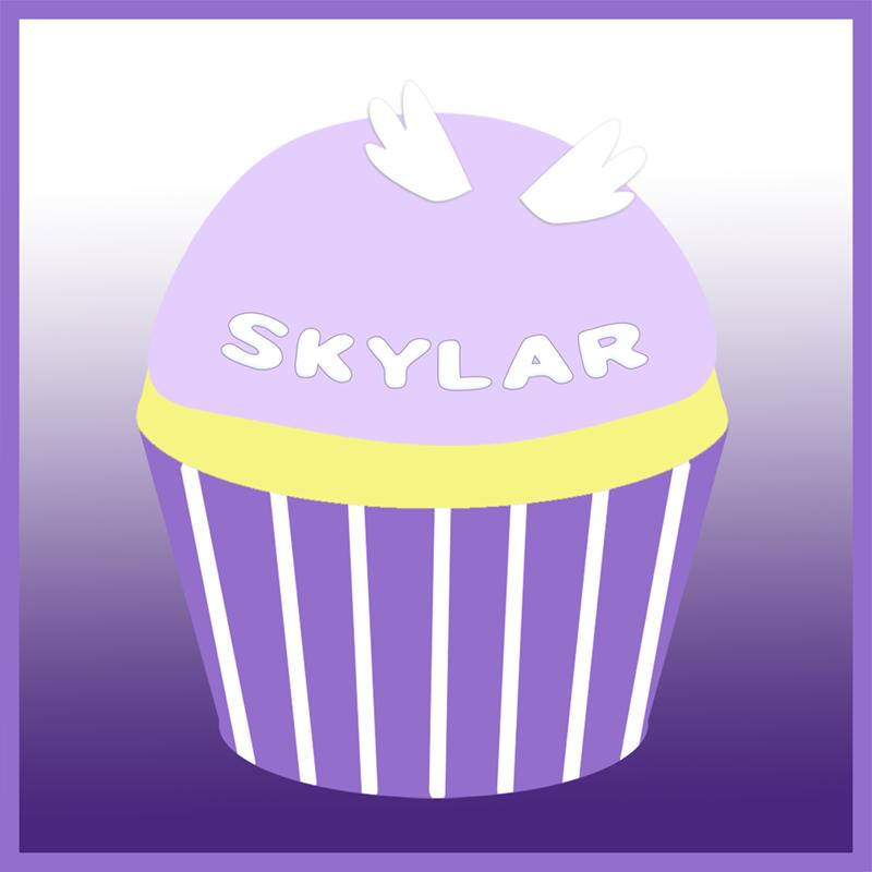 Skylar's remembrance cupcake