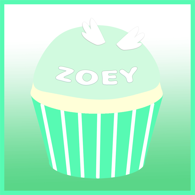 Zoey Adelaide Grace's remembrance cupcake