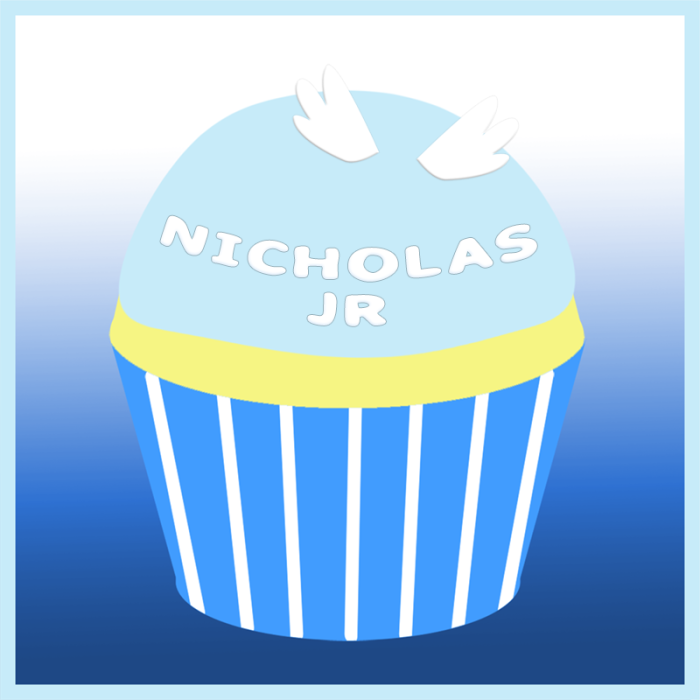Nicholas Jr's remembrance cupcake