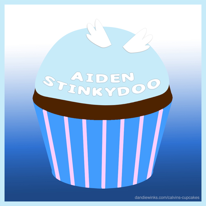 Aiden's remembrance cupcake