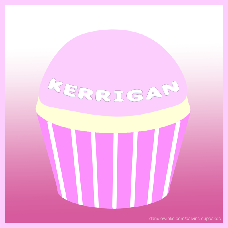 Kerrigan's remembrance cupcake