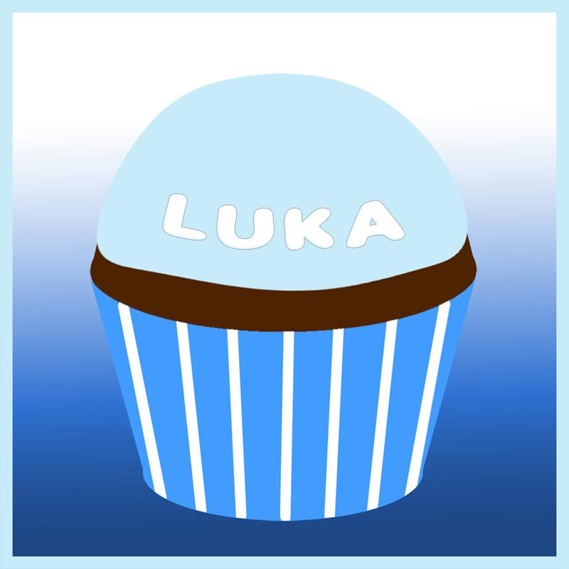 Luka's remembrance cupcake