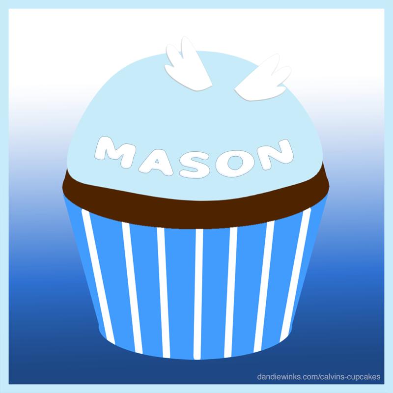 Mason's remembrance cupcake