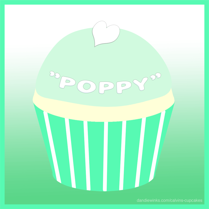 Poppy's remembrance cupcake