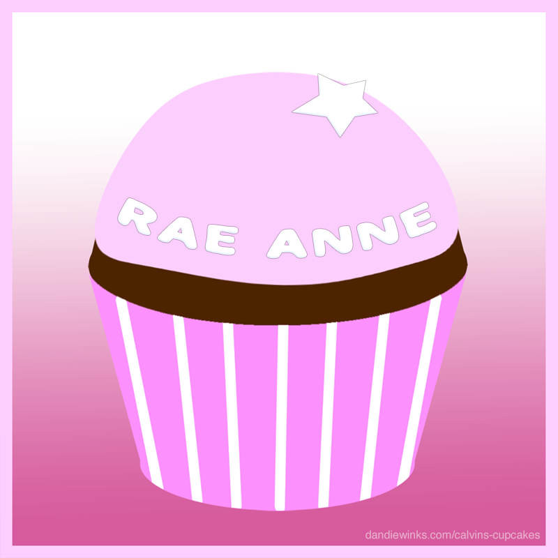 Rae Anne's remembrance cupcake