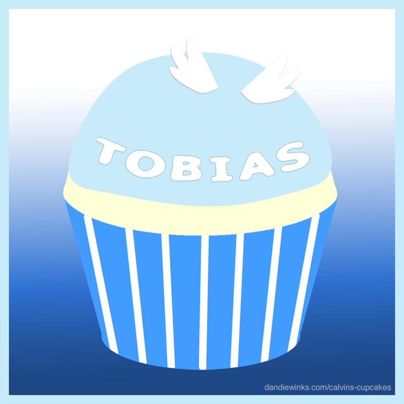 Tobias's remembrance cupcake