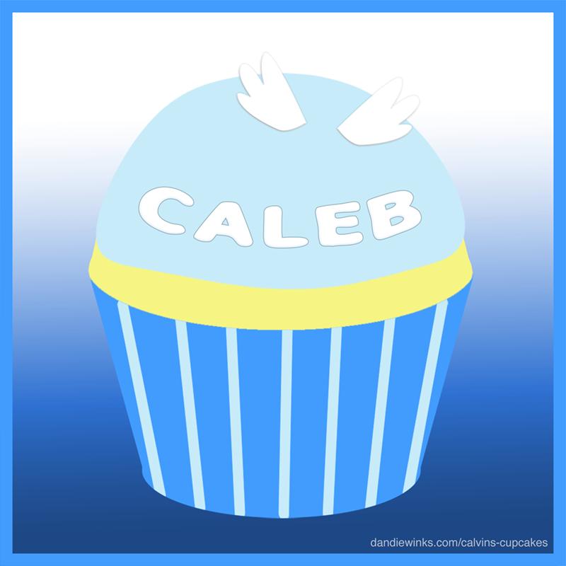 Caleb's remembrance cupcake