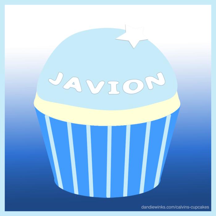 Javion's remembrance cupcake