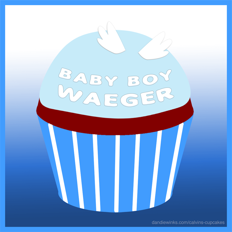 Baby Boy Waeger's remembrance cupcake