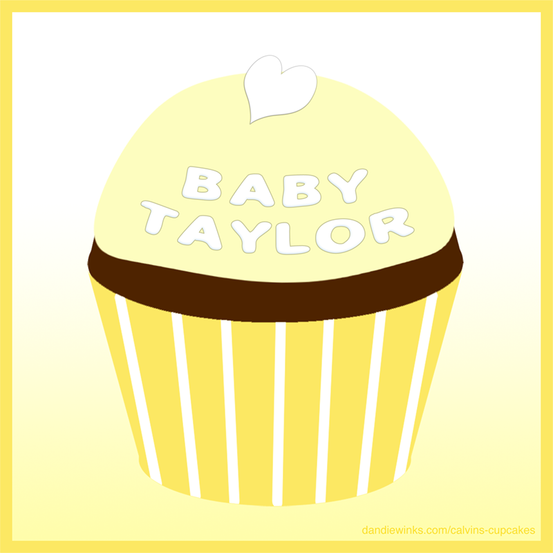 Baby Taylor's remembrance cupcake