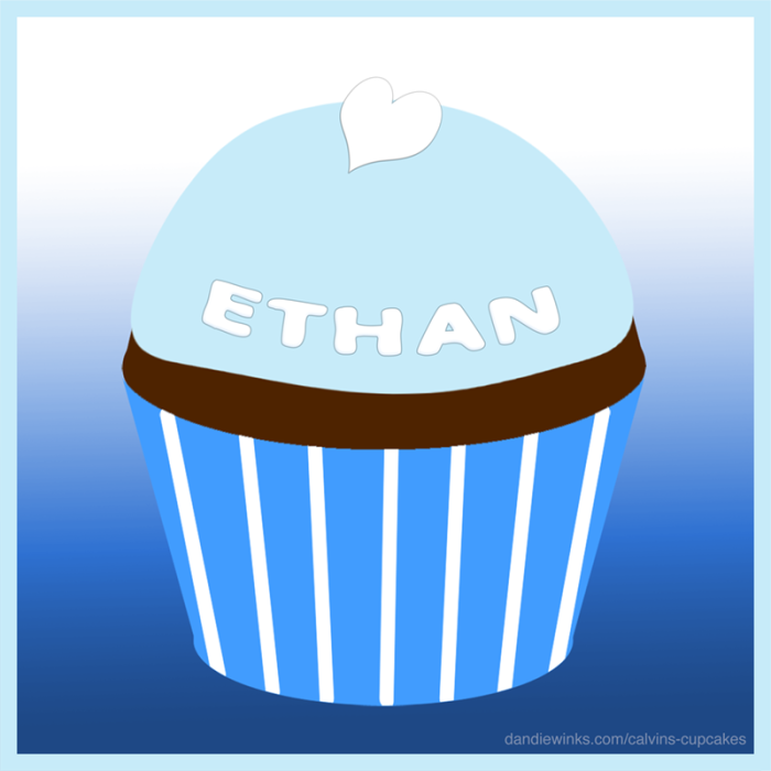 Ethan's remembrance cupcake