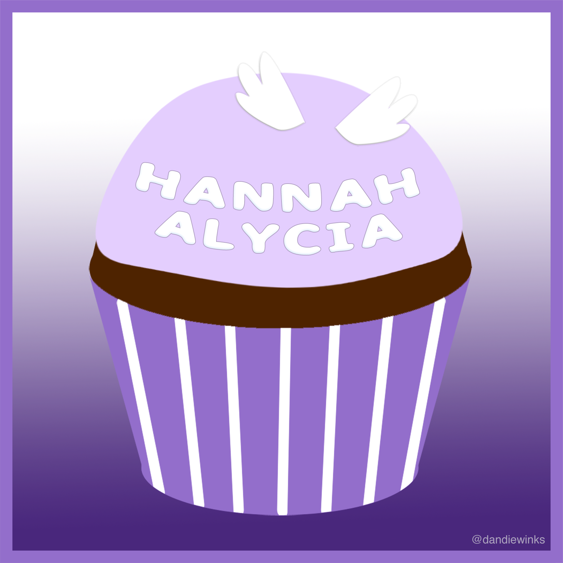 Hannah Alycia's anniversary remembrance cupcake from Sylivia