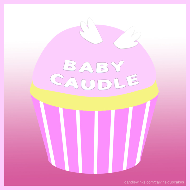 Baby Caudle's remembrance cupcake from Kimber
