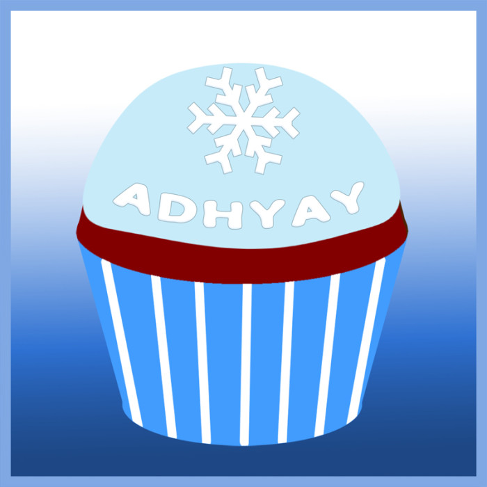 Adhyay's remembrance cupcake