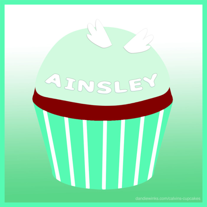 Ainsley Young's remembrance cupcake