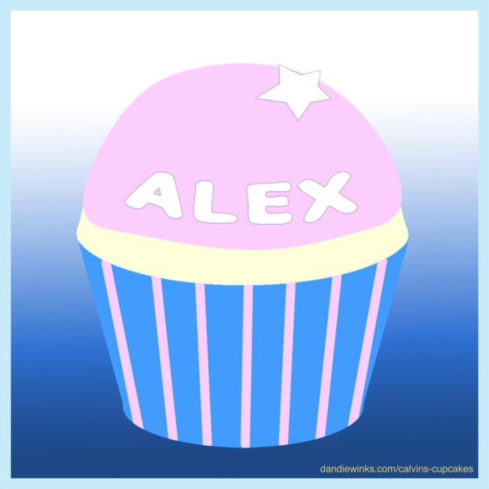 Alex's remembrance cupcake