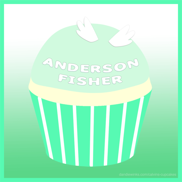 Anderson Fisher's remembrance cupcake